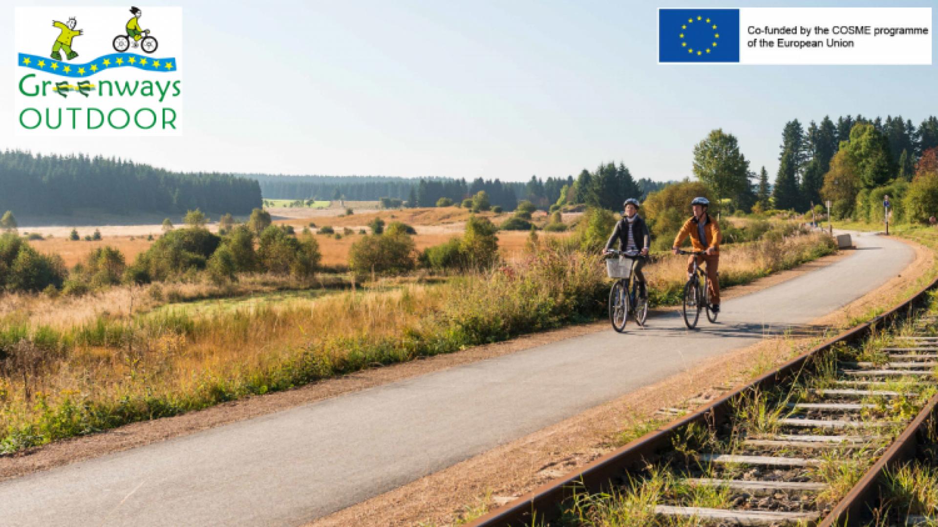 """""""Voies vertes Outdoor"""" pour la création et promotion d'un produit de tourisme de plein air lié à des voies vertes européennes."""